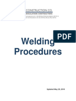 API Welding Procedures