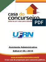 Apostila Ufrn 2015 Assistente Administrativo