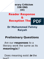reader response and reception theory