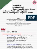 dyah  Final Peran & Fungsi IDI dalam Peningkatan Kompetensi Dokter Umum Pelayanan Bayi Balita.pptx