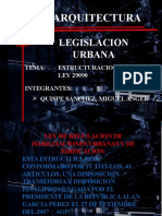 Estructura Ley 29090