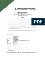 Model Based Fault Identification of Unbalance