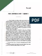 P. Tannery - Pour l'Histoire Du Mot 'Apeiron'