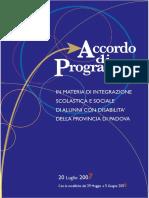 Accordo Di Programma 31-07-2009
