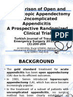 Comparison of Open and Laparoscopic Appendectomy in Uncomplicated