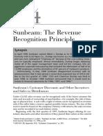 Case 1.4 Sunbeam; The Revenue Recognition Principle