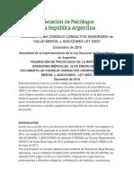 Documento Del Consejo Consultivo Honorario de Salud Mental y Adicciones Ley 26657