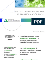 DESAFÍOS DE LA PARTICIPACIÓN PARA LA TRANSFORMACIÓN SOCIAL...