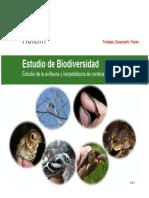 Estudio de Biodiversidad Holcim el salvador