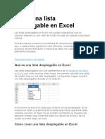 Crear Una Lista Desplegable en Excel