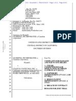 Globefill v. Coastal Cocktails - Complaint