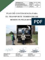 CE-PL-002A Plan de Contingencia Para El Transporte Terrestre de RS v1!08!04-2016