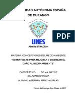 Inv_Estrategias Para Mejorar y Disminuir El Daño Al Medio Ambiente_CONCEPCIONES DEL MEDIO AMBIENTE_Abraham Mancha Salas