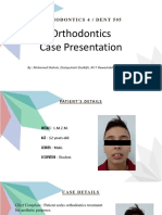 Orthodontics Case Presentation related to Class II Malocclusion