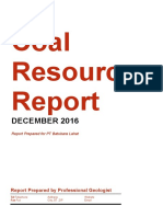 Coal Resources Report (Template)