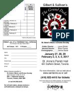 Grand Duke Ticket Order Form