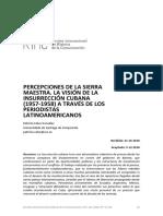 Percepciones de La Sierra Maestra. La Vi