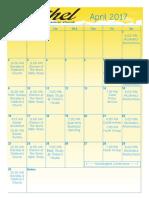 Bethel Calendar April 2017