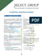 Rm - Cuatro Operaciones -Sg