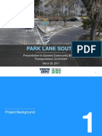 NYC Department of Transportation Plan to Overhaul Park Lane South