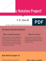 scientific notation project student sample