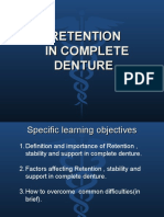 RETENTION in Complete Denture