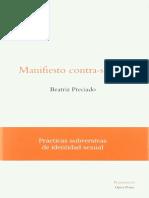 Beatriz Preciado - Manifiesto Contra-sexual. Practicas Subversivas de Identidad Sexual
