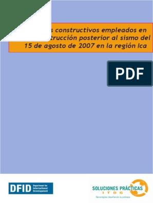 Sistemas Constructivos Ica Pdf Fundación Ingeniería