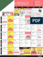 Calendario Agosto 2016 Gym Virtual