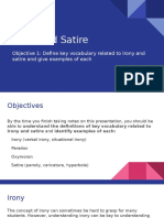 irony and satire- objective 1