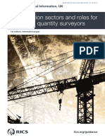 Construction Sectors and Roles for Chartered Quantity Surveyors