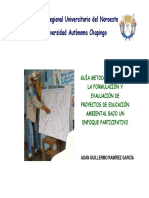 Guia Metodologica Para La Formulacion y Evaluacion de Proyectos de Educacion Ambiental Bajo Un En