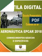 APOSTILA AERONÁUTICA EPCAR 2018 CADETES DO AR + BRINDES
