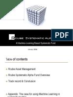 Rcube Systematic Alpha Fund Presentation