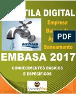 APOSTILA EMBASA 2017 ENGENHARIA SANITÁRIA + BRINDES