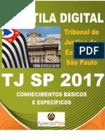 APOSTILA TJ SP 2017 ESCREVENTE TÉCNICO JUDICIÁRIO + BRINDES.