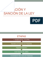 Formacion y Sancion de La Ley