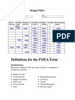 FMEA Definitions 2014
