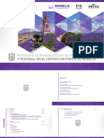 Programa de Rehabilitación de Espacio Público y Peatonal en el centro Histórico de Morelia