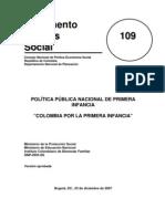 Conpes 109 Colombia Por La Primera Infancia