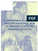 Elaboremos planes de acción nacional para erradicar el trabajo infantil