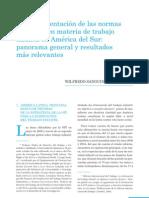 La implementación de las normas de la OIT en materia de TI en América del Sur