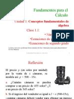 1.1 Ecuaciones de Primer Grado y Segundo Grado(4)