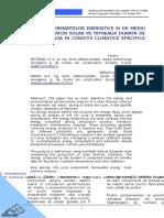 Studiu Analiza Performantelor Unui Captator Solar