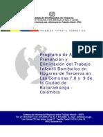Programa de eliminación del trabajo infantil doméstico en Bucaramanga