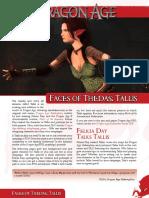 Dragon Age Faces of Thedas Tallis