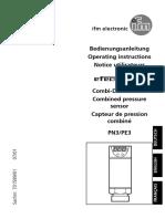 Instrucoes Instalacao Sensor Pressao Ifm Pn30xx