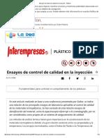 Ensayos de control de calidad en la inyección - Plástico.pdf