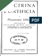 BAC Doctrina Pontificia 1-Documentos Biblicos