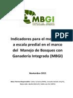 Indicadores para el monitoreo a escala predial en el marco del Manejo de Bosques con Ganadería Integrada (MBGI)